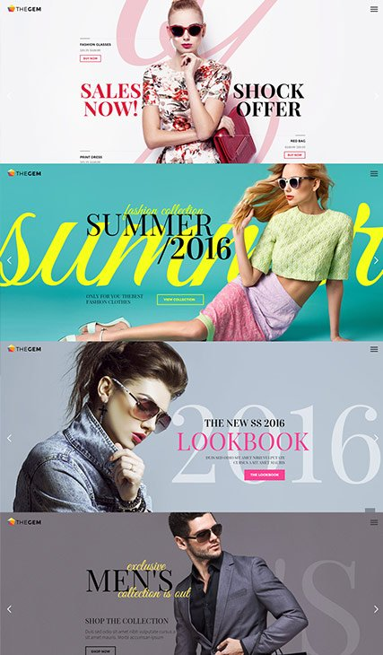Horizontal Slider Lookbook