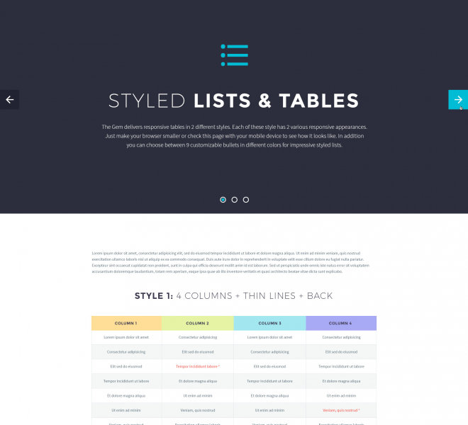 LISTS & TABLES