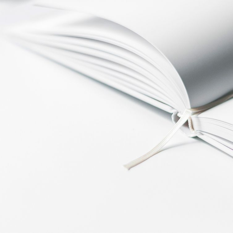 White empty books