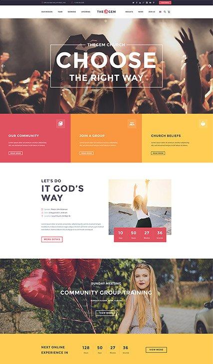 Modern Church One-Page
